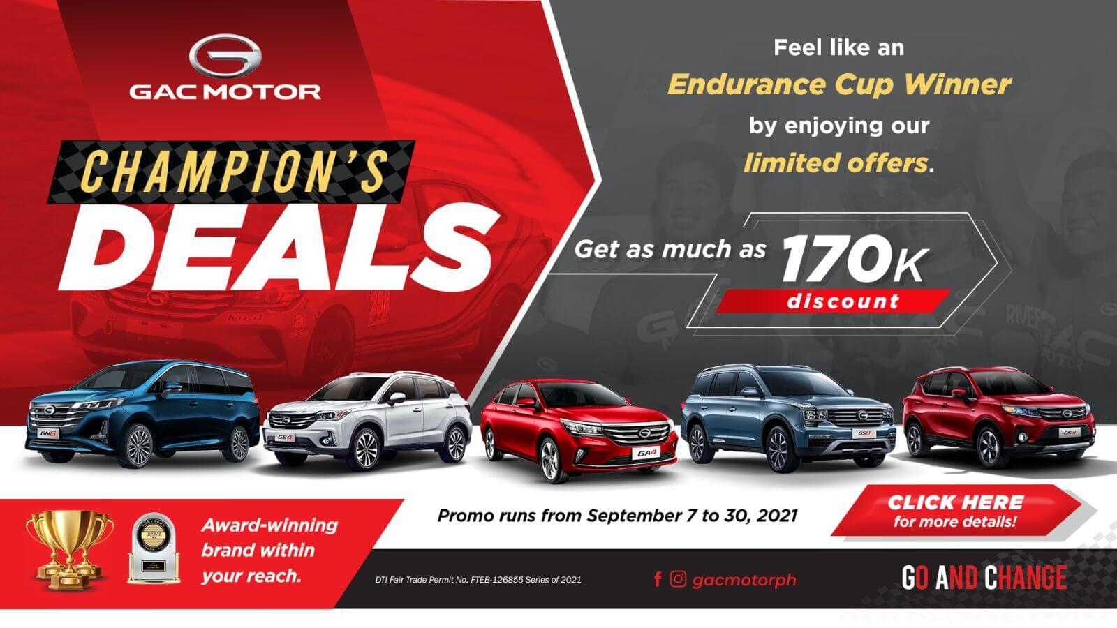 GAC Motor Champion's Deals