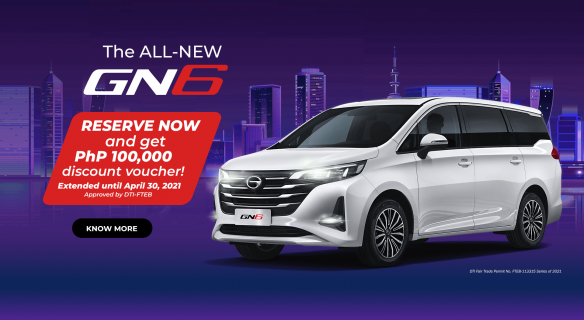 The All New GN6 Reserve Now and Get Discount Voucher
