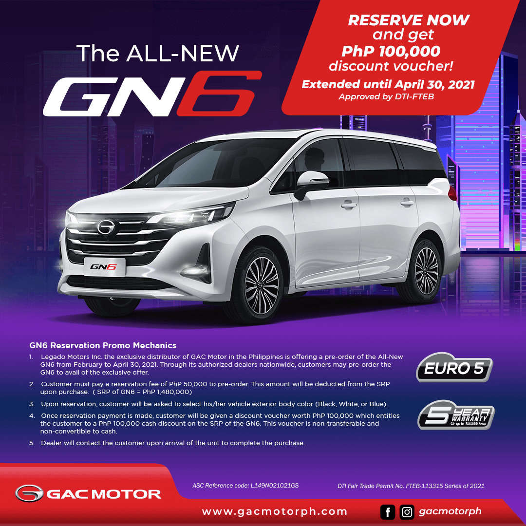 The All New GN6 Reserve Now and Get Discount Voucher - Extended Until April 30, 2021